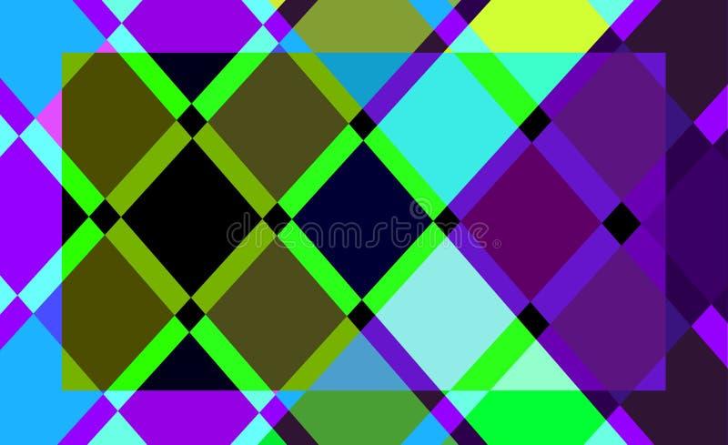 Fond abstrait de couleur géométrique illustration libre de droits