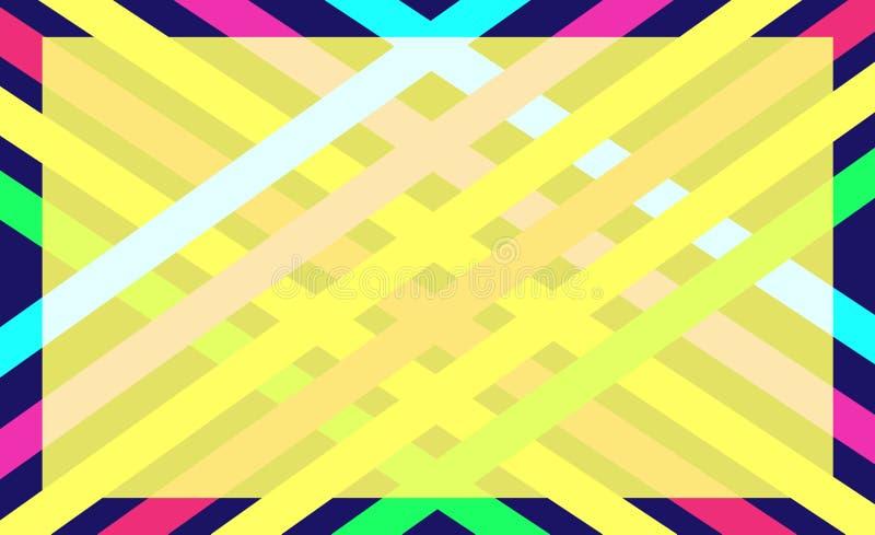 Fond abstrait de couleur géométrique illustration de vecteur