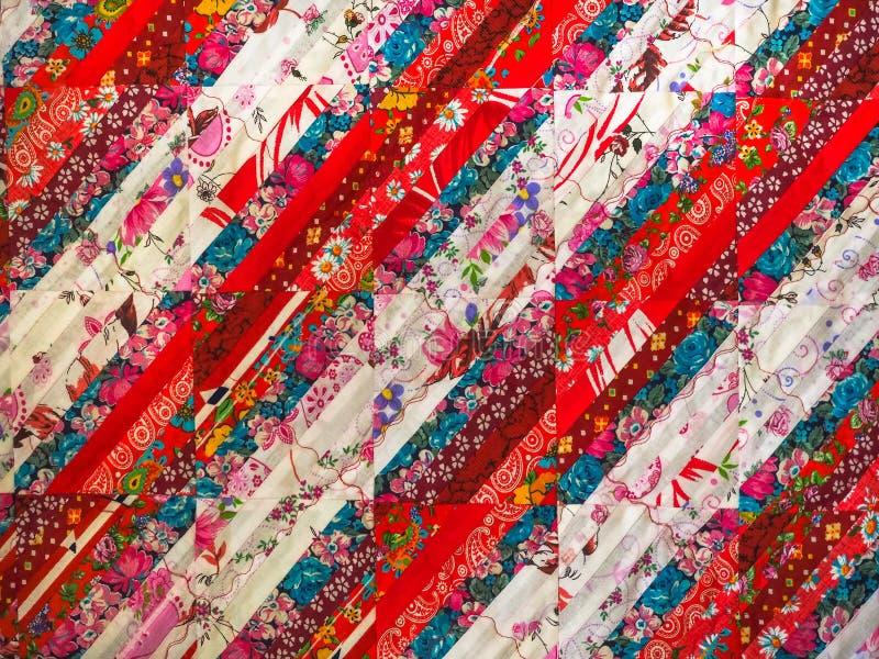 Fond abstrait de couleur Ornement fait main de patchwork image libre de droits