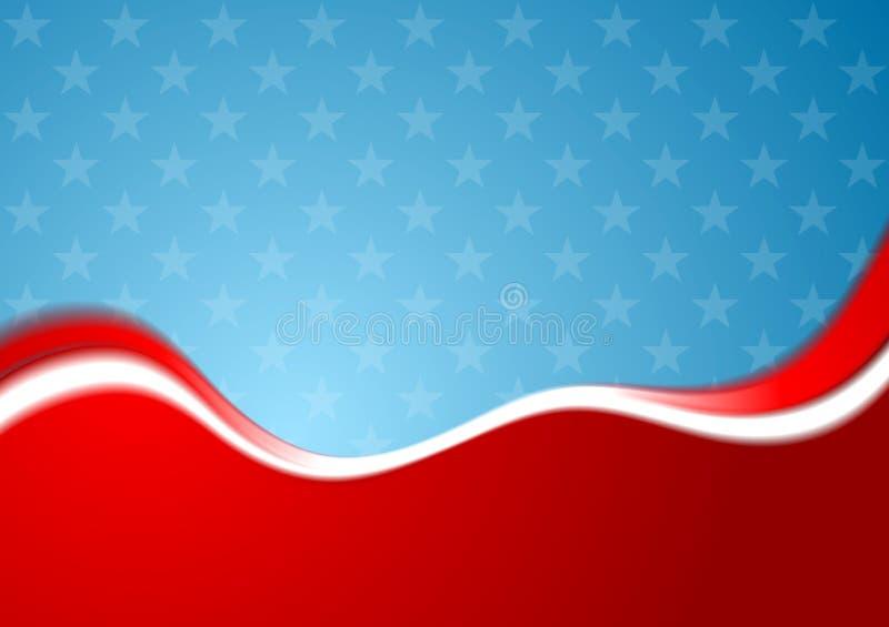 Fond abstrait de couleurs des Etats-Unis illustration stock