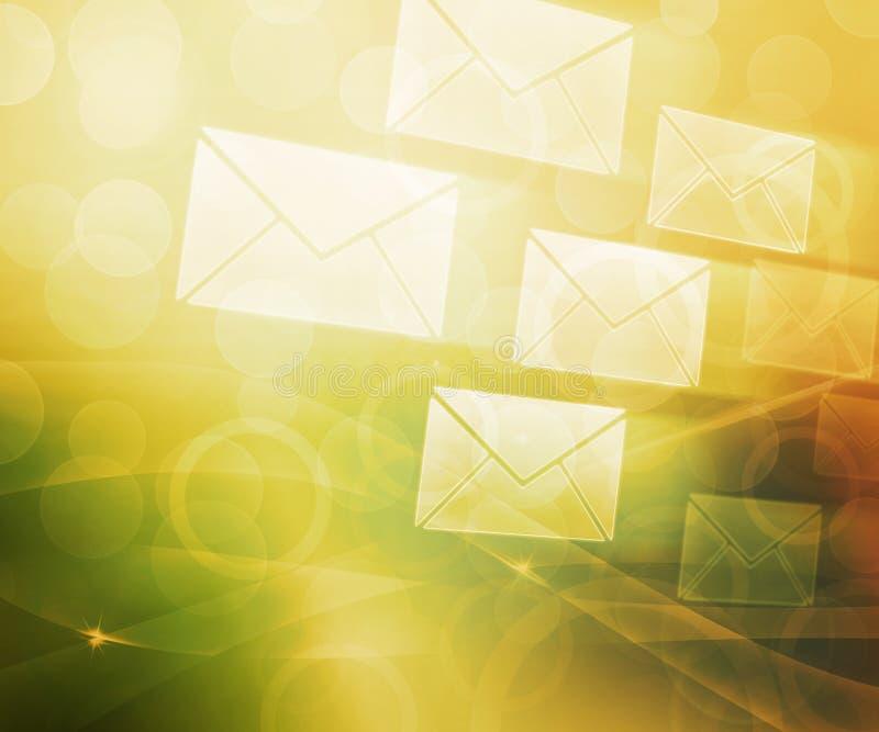 Fond abstrait de courrier illustration de vecteur