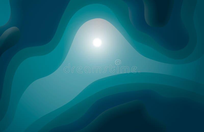 Fond abstrait de créativité de conception des vagues, illustration EPS10 de vecteur Océan magique photos libres de droits