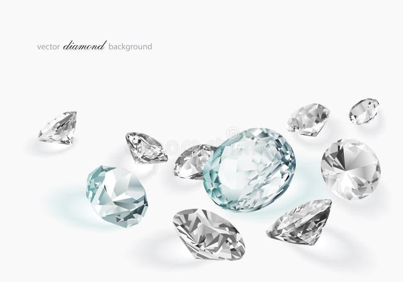 Fond abstrait de diamant illustration stock