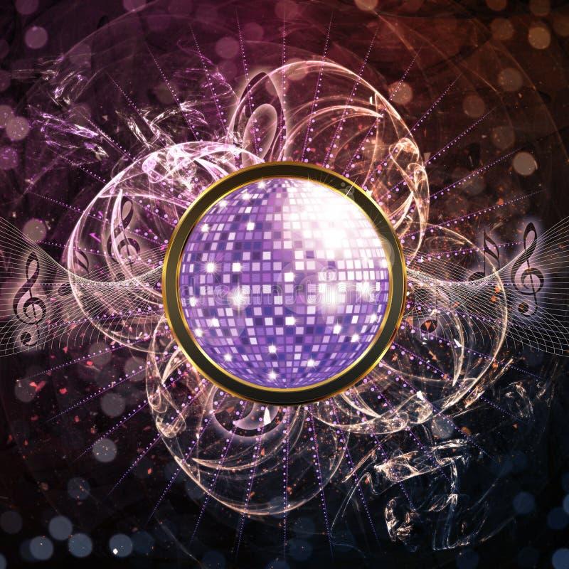 Fond abstrait de disco illustration de vecteur