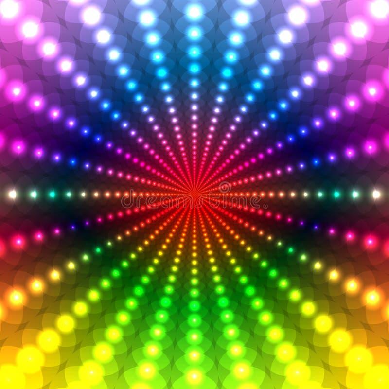 Fond abstrait de disco d'arc-en-ciel illustration stock