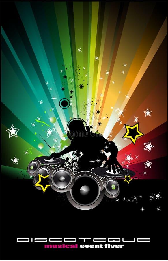 Fond abstrait de disco de musique illustration de vecteur