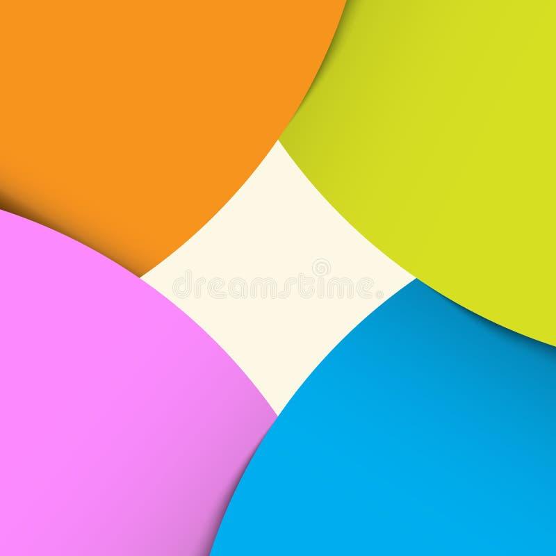 Fond abstrait de drapeau d'origami. illustration de vecteur
