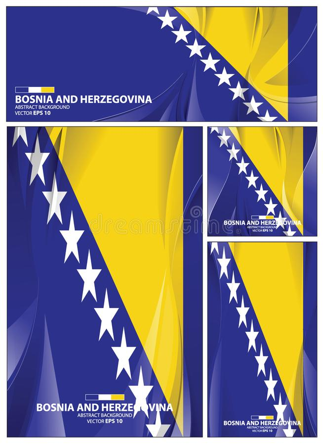 Fond abstrait de drapeau de la Bosnie-Herz?govine illustration stock