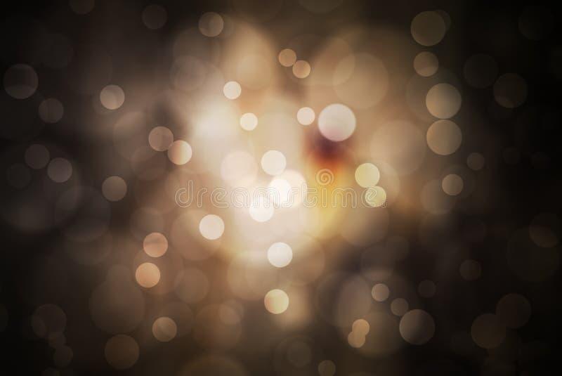 Fond abstrait de fête avec les lumières et l'étoile defocused de bokeh illustration stock