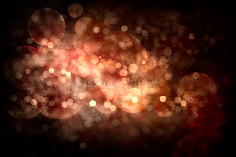 Fond abstrait de fête de Noël Vacances rougeoyantes Bokeh image stock
