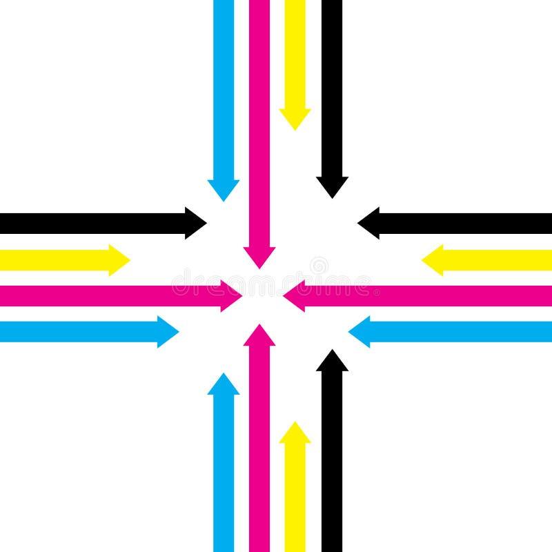 Fond abstrait de flèche illustration de vecteur