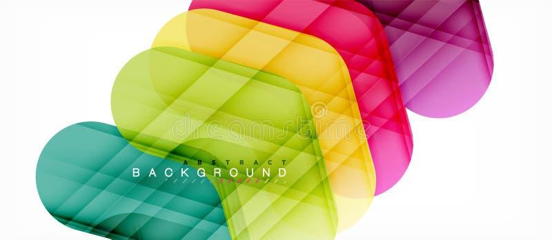 Fond abstrait de flèches brillantes colorées illustration stock