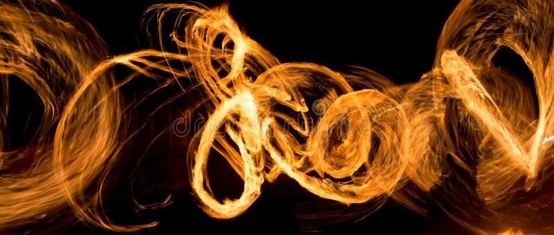 Fond abstrait de flamme sur l'exposition du feu photo libre de droits