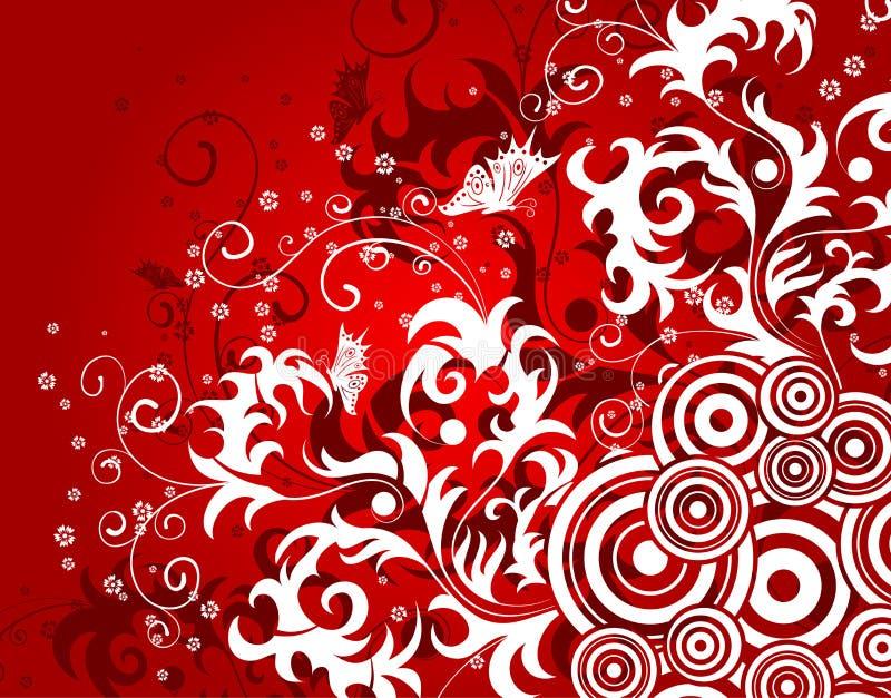 Fond abstrait de fleur illustration libre de droits