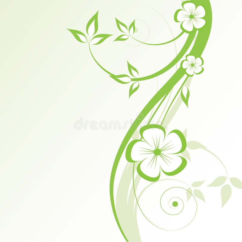 Fond abstrait de fleur illustration libre de droits