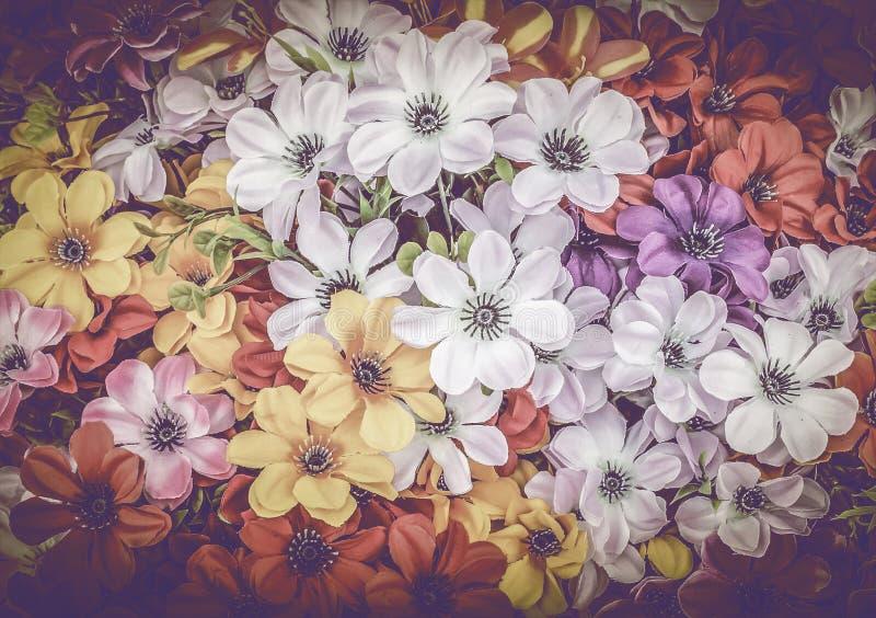 Fond abstrait de fleurs colorées image stock