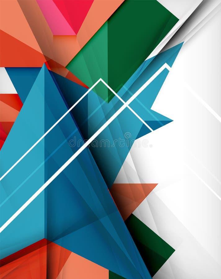 Fond abstrait de formes colorées géométriques illustration stock