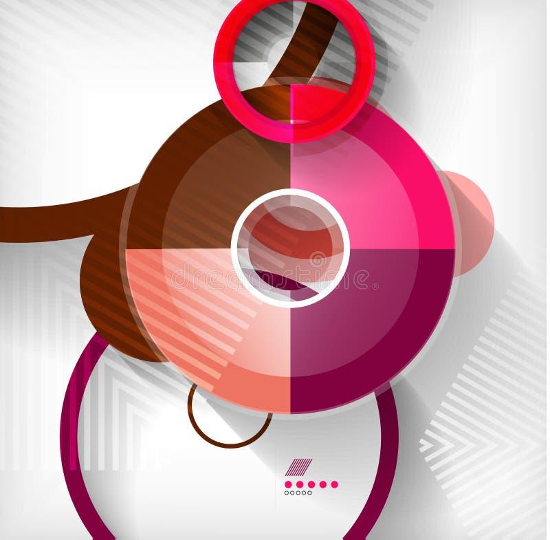 Fond abstrait de formes géométriques illustration libre de droits
