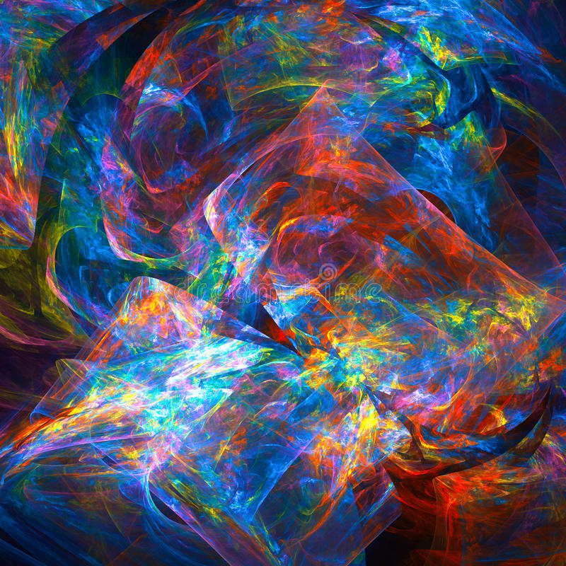 Fond abstrait de fractale illustration stock