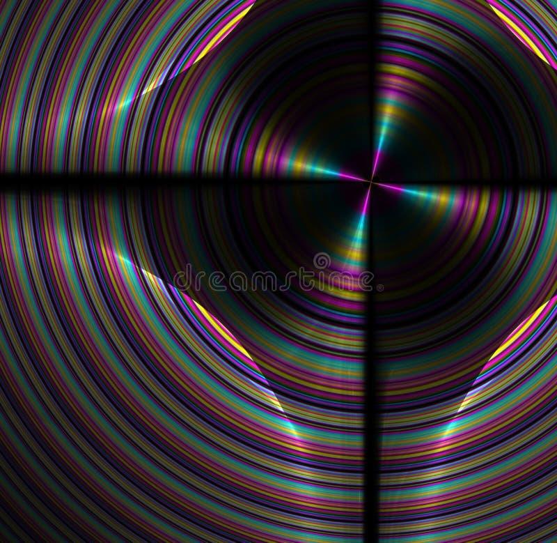 Fond abstrait de fractale avec la texture de disque d'arc-en-ciel illustration de vecteur