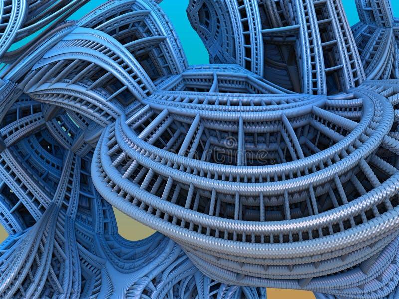 Fond abstrait de fractale, illustration 3D illustration de vecteur