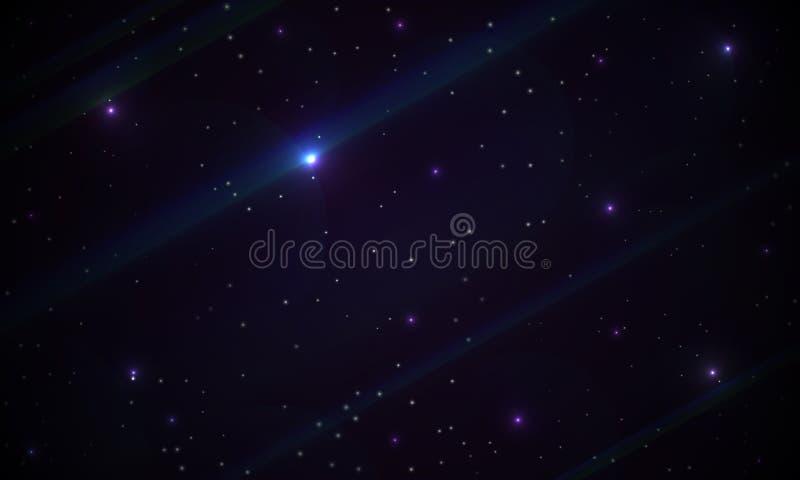 Fond abstrait de galaxie illustration de vecteur