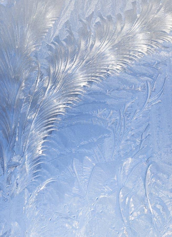 Fond abstrait de gel d'hublot image stock