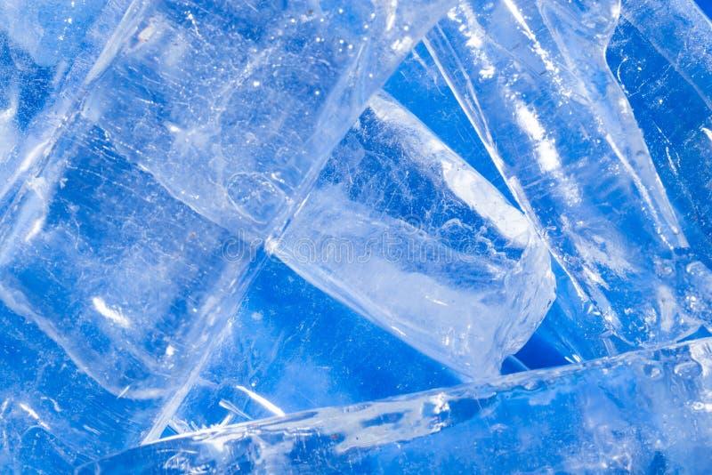 Fond abstrait de glace bleue image libre de droits