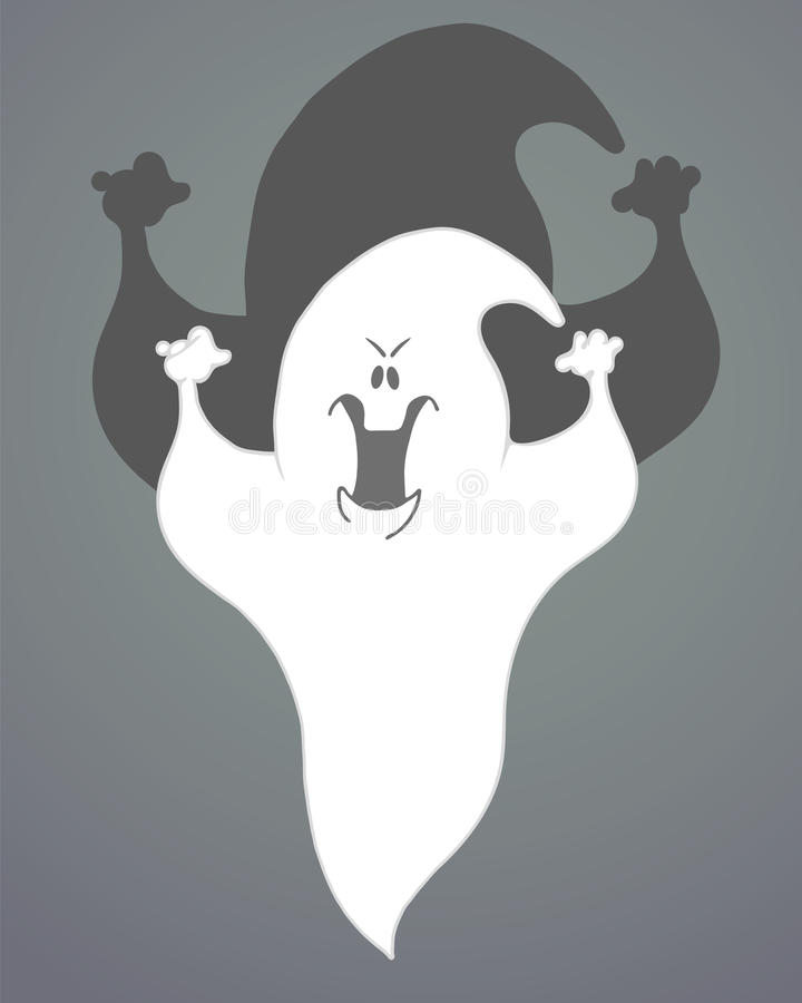 Fond abstrait de Halloween avec Ghost illustration libre de droits