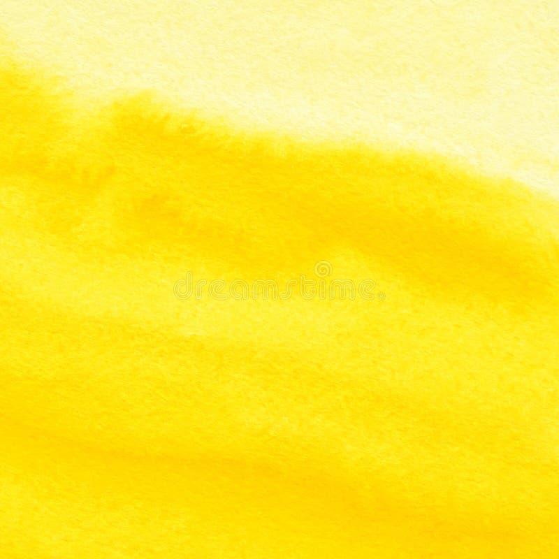 Fond abstrait de jaune d'aquarelle images libres de droits