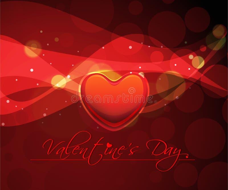 Fond abstrait de jour de valentines avec des coeurs illustration stock
