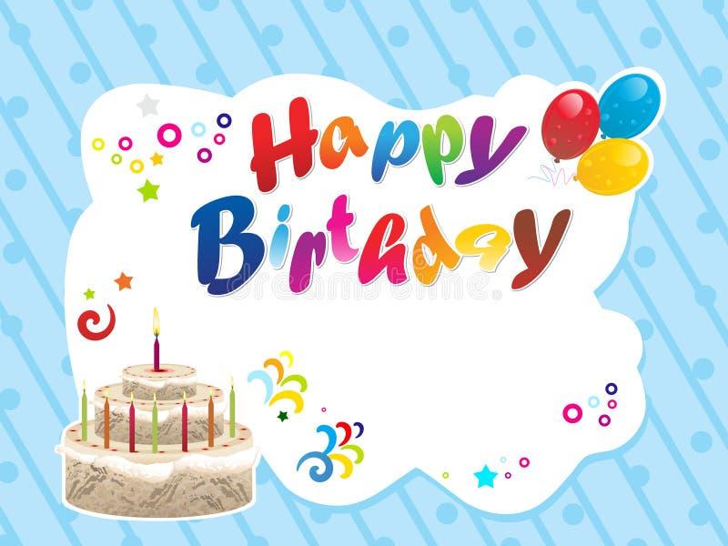 Fond abstrait de joyeux anniversaire illustration libre de droits