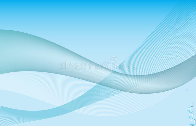 Fond abstrait de l'eau illustration libre de droits