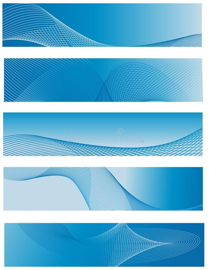 Fond abstrait de l'en-tête cinq avec des lignes illustration stock