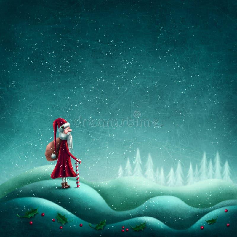 Fond abstrait de l'hiver illustration stock