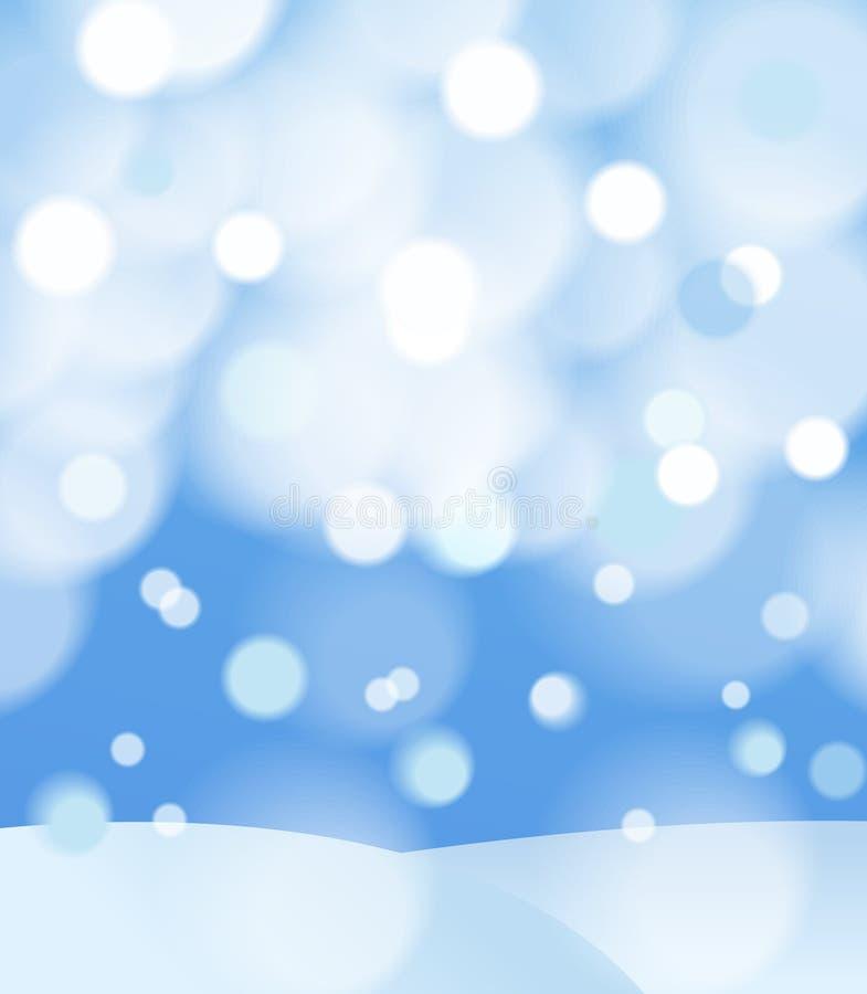 Fond abstrait de l'hiver illustration de vecteur