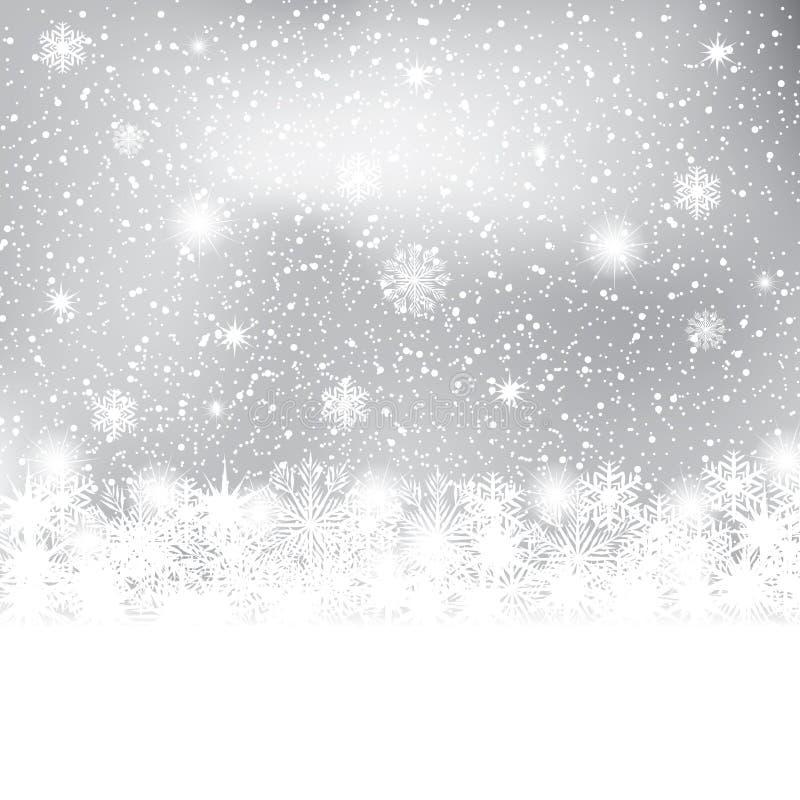 Fond abstrait de l'hiver illustration libre de droits