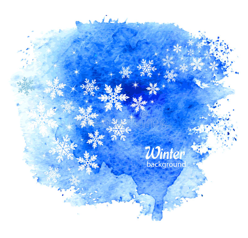 Fond abstrait de l'hiver avec des flocons de neige Vecteur illustration de vecteur