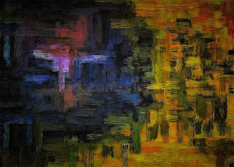 Fond abstrait de la texture grunge colorée des calomnies et des taches brouillées de peinture sur la toile texturisée illustration stock