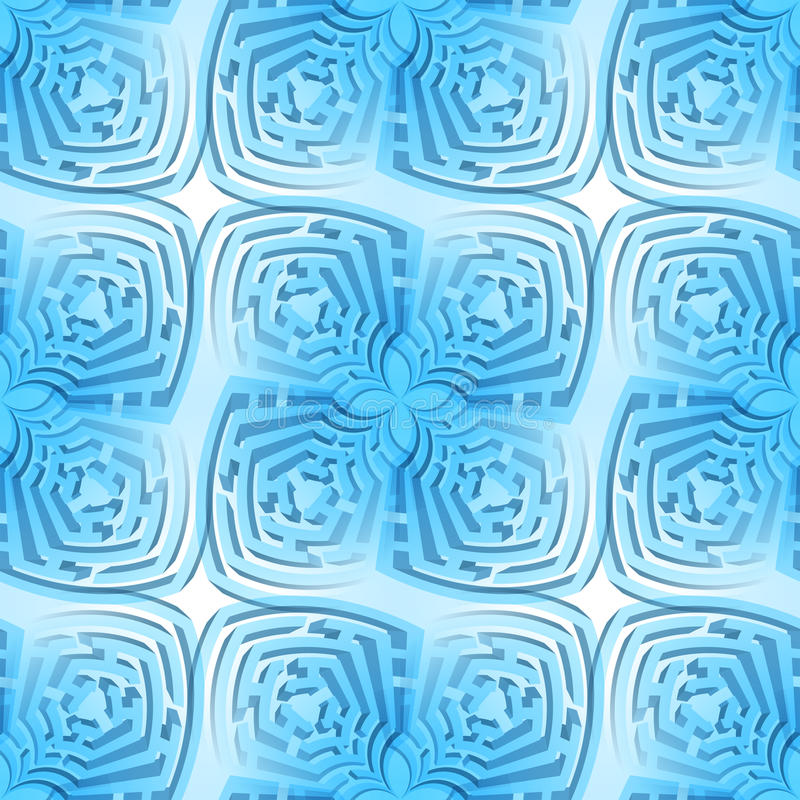 Fond abstrait de labyrinthe illustration libre de droits