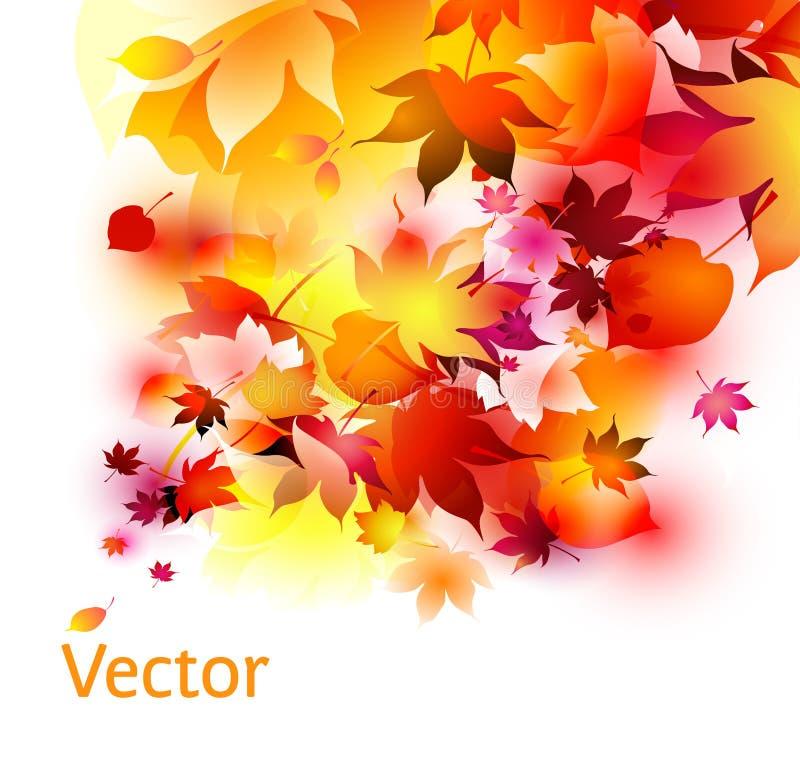 Fond abstrait de lames d'automne illustration de vecteur