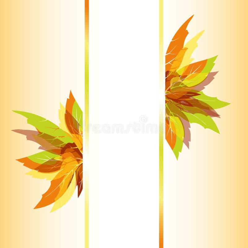 Fond abstrait de lames d'automne images libres de droits