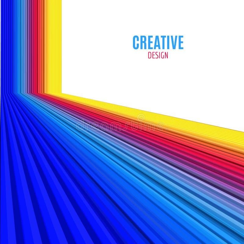Fond abstrait de lignes droites de vecteur Fond coloré de conception moderne illustration de vecteur