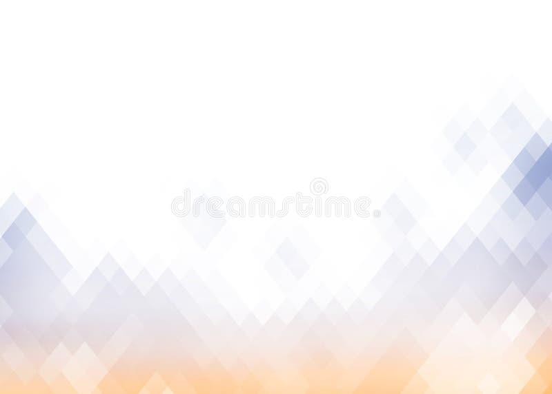 Fond abstrait de losange de gradient illustration stock