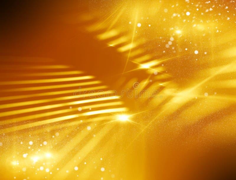 Fond abstrait de lueur d'or illustration stock