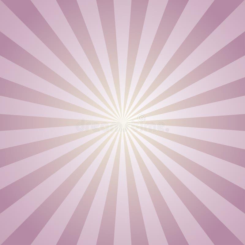 Fond abstrait de lumière du soleil Fond d'éclat de couleur de rose et de lavande Illustration de vecteur Rayon de faisceau de Sun illustration de vecteur