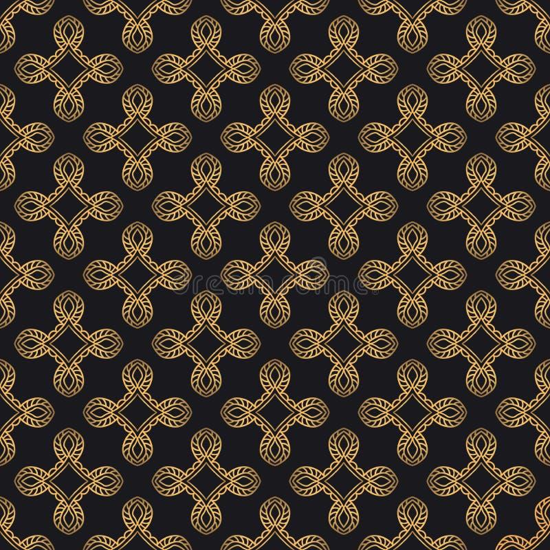 Fond abstrait de luxe en couleurs d'or et de noir illustration de vecteur