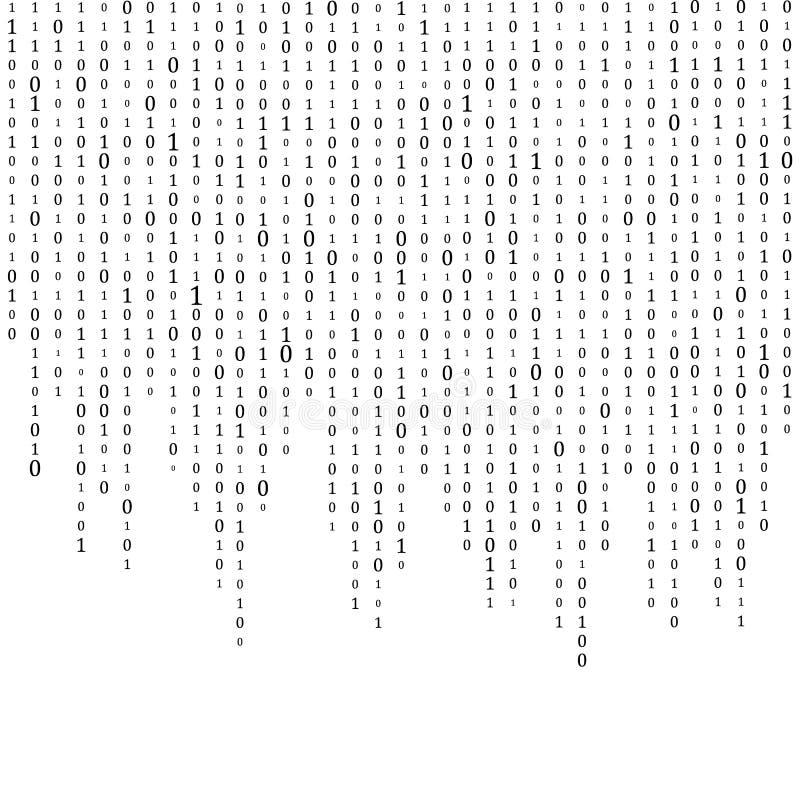 Fond abstrait de matrice Code machine binaire codage Concept de pirate informatique Illustration de fond de vecteur illustration de vecteur