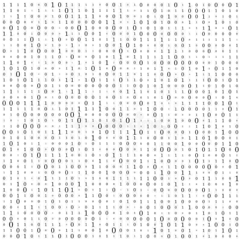 Fond abstrait de matrice Code machine binaire codage Concept de pirate informatique Illustration de fond de vecteur illustration stock