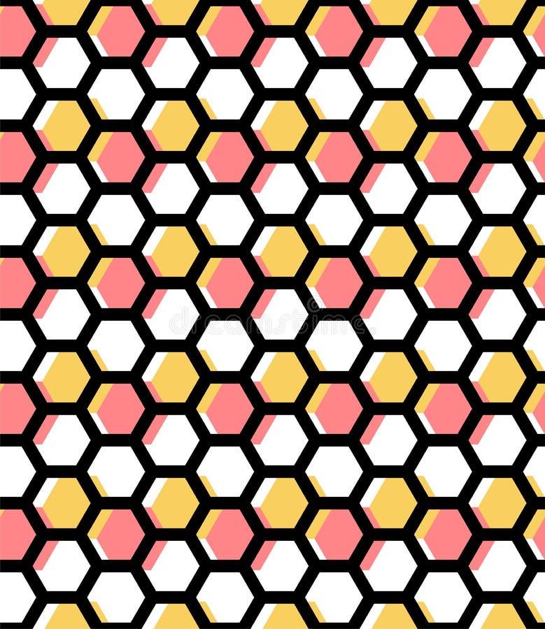 Fond abstrait de miel g?om?trique d'hexagone Dirigez la configuration sans joint Perfectionnez pour l'impression illustration libre de droits
